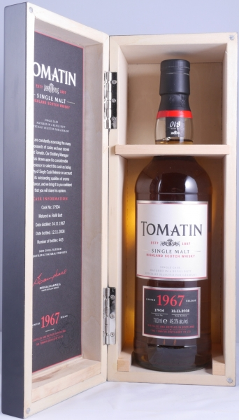 Tomatin 1967 40 Years 2th Release Cask 17904 Highland Single Malt Scotch Whisky 49,3%