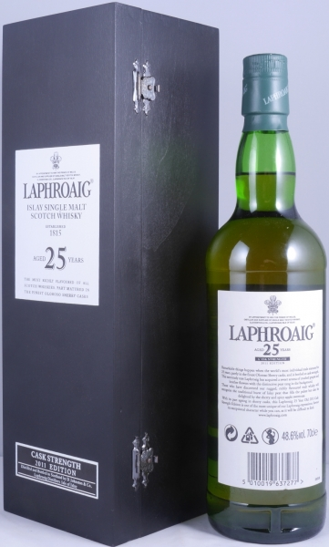 Laphroaig 25 Years Cask Strength Limited Edition 2011 Islay Single Malt Scotch Whisky 48.6%