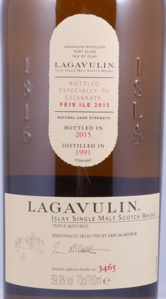 Lagavulin Feis Ile 2015 limited Edition 24 Years Islay Single Malt Scotch Whisky Cask Strength 59.9%
