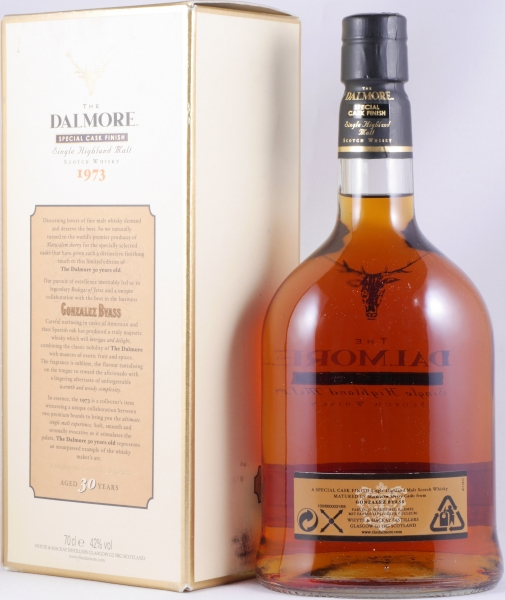 Dalmore 1973 30 Years Mathusalem Gonzalez Byass Special Cask Finish Highland Single Malt Scotch Whisky 42,0%