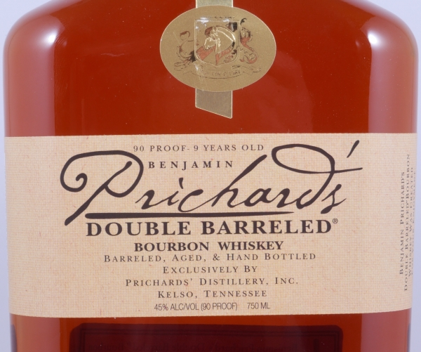 Prichards 9 Years Double Barreled Tennessee Straight Bourbon Whiskey 45.0%