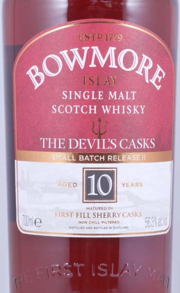 Bowmore The Devils Casks II 10 Years First Fill Sherry Cask Islay Single Malt Scotch Whisky 56.3%