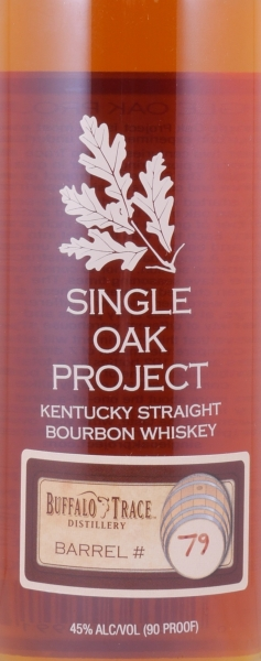 Buffalo Trace Single Oak Project Barrel #79 Kentucky Straight Bourbon Whiskey 45,0%