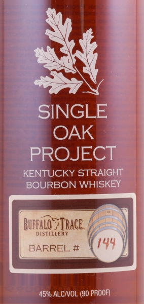 Buffalo Trace Single Oak Project Barrel #144 Kentucky Straight Bourbon Whiskey 45.0%