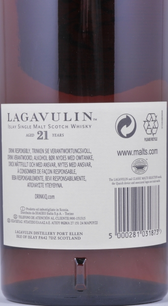 Lagavulin 1991 21 Years Limited Edition Islay Single Malt Whisky Cask Strength 52,0%