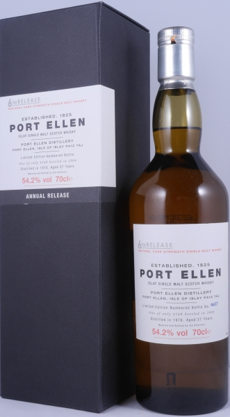 Port Ellen 1978 27 Years 6th Release Limited Edition Islay Single Malt Scotch Whisky Natural Cask Strength 54,2%
