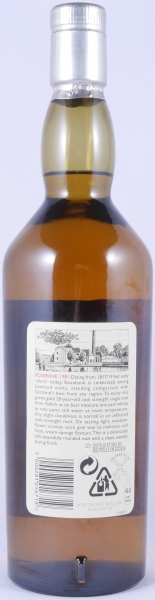 Rosebank 1981 20 Years Lowland Single Malt Scotch Whisky Diageo Rare Malts Selection 62.3%