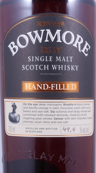 Bowmore 1995 18 Years 6th Hand-Filled Edition 1st Fill Oloroso Sherry Butt Cask 1572 Single Malt Scotch Whisky 49,4%