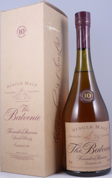 Balvenie 10 Years Founders Reserve Highland Malt Scotch Whisky old Cognac Style Bottling 43,0%