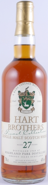 Highland Park 1968 Hart Brothers 27 Years Finest Collection Vintage Single Malt Scotch Whisky 43.0%