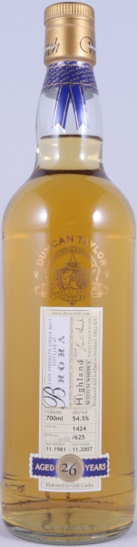 Brora 1981 26 Years Cask 1424 Highland Single Malt Scotch Whisky Duncan Taylor Cask Strength Rare Auld Edition 54.5%