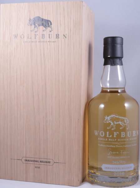 Wolfburn Inaugural 2016 Release Limited Edition Highland Single Malt Scotch Whisky Cask Strength 46,0%