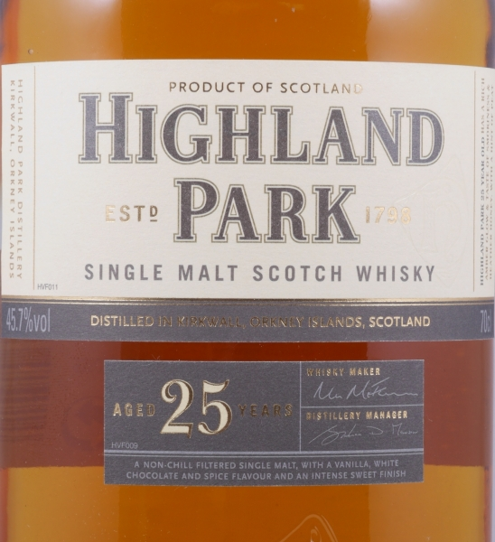 Highland Park 25 Years Release 2012 Orkney Islands Single Malt Scotch Whisky 45.7%