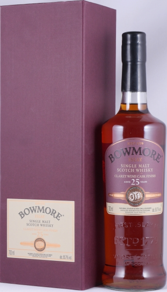 Bowmore 1990 25 Years Feis Ile 2016 Claret Wine Cask Finish Islay Single Malt Scotch Whisky 55.7%