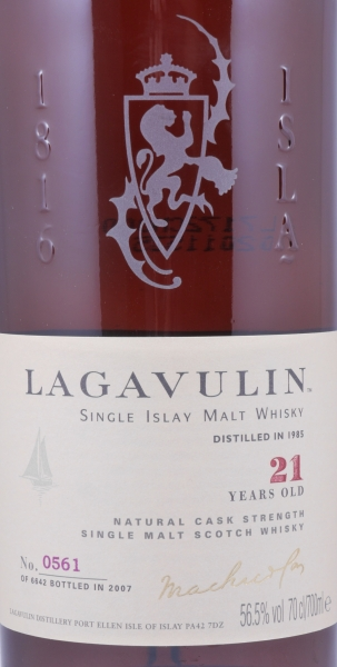 Lagavulin 1985 21 Years Sherry Cask Limited Special Release Islay Single Malt Scotch Whisky Cask Strength 56.5%