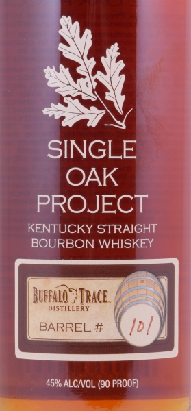 Buffalo Trace Single Oak Project Barrel #101 Kentucky Straight Bourbon Whiskey Releases Ninth 45.0%