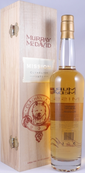 Clynelish 1971 36 Years Bourbon Single Cask Highland Single Malt Scotch Whisky Mission Edition Murray McDavid 51,5%