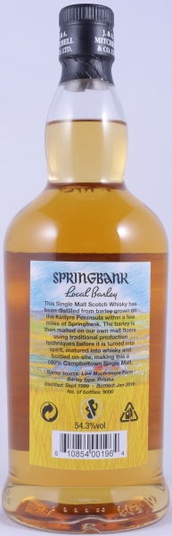 Springbank 16 Years Local Barley Release 2016 Campbeltown Single Malt Scotch Whisky 54,3%