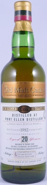 Port Ellen 1982 20 Years Sherry Cask Islay Single Malt Scotch Whisky Douglas Laing Old Malt Cask 50.0%