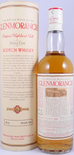 Glenmorangie 1982 10 Years The Native Ross-Shire Single Cask 5337 Highland Single Malt Scotch Whisky 59.6%