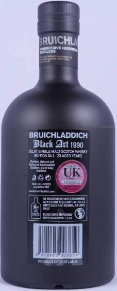 Bruichladdich Black Art Edition 04.1 1990 23 Years Islay Single Malt Scotch Whisky Cask Strength 49.2%