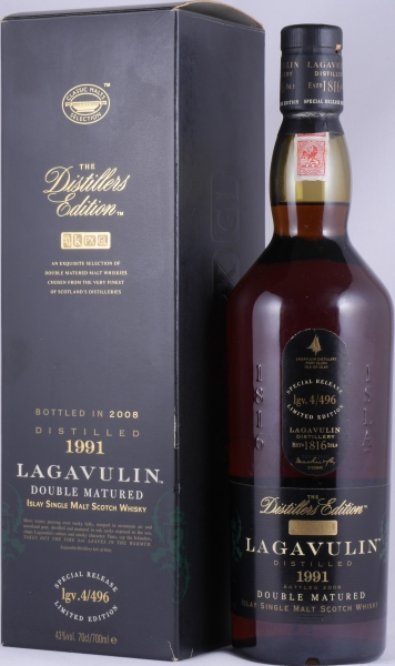 Lagavulin 1991 16 Years Distillers Edition 2008 Special Release lgv.4/496 Islay Single Malt Scotch Whisky 43.0%