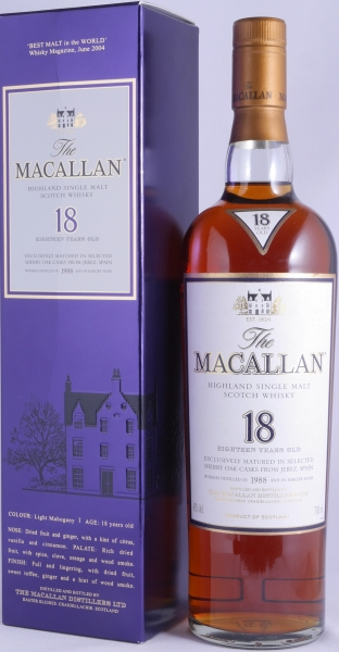 Macallan 1988 18 Years Sherry Oak Highland Single Malt Scotch Whisky 43,0%