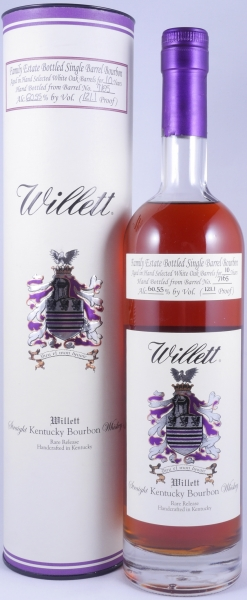 Willett 10 Years Family Estate Single Barrel No. 7165 Rare Release Kentucky Straight Bourbon Whiskey 60.55%