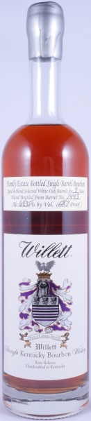 Willett 9 Years Family Estate Single Barrel No. 1443 Rare Release Kentucky Straight Bourbon Whiskey 64,35%