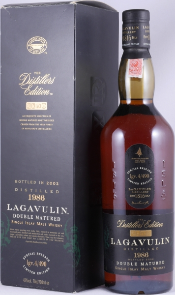 Lagavulin 1986 16 Years Distillers Edition 2002 Special Release lgv.4/490 Islay Single Malt Scotch Whisky 43.0%