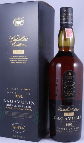 Lagavulin 1991 16 Years Distillers Edition 2007 Special Release lgv.4/495 Islay Single Malt Scotch Whisky 43.0%