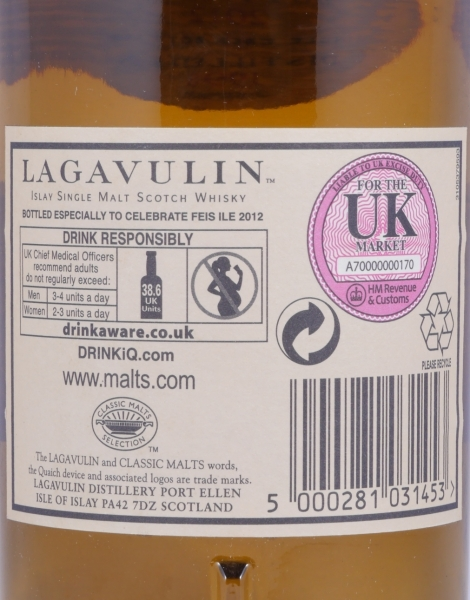 Lagavulin 1998 Feis Ile 2012 14 Years Refill Sherry Butt Cask 1716 Islay Single Malt Scotch Whisky Cask Strength 55,1%