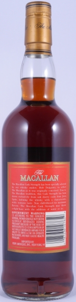 Macallan Cask Strength Red Label Highland Single Malt Scotch Whisky Remy Amerique 57.8%