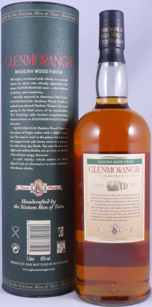 Glenmorangie Madeira Wood Finish Highland Single Malt Scotch Whisky 43.0%