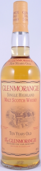 Glenmorangie 10 Years Old Bottling Highland Single Malt Scotch Whisky 40,0%