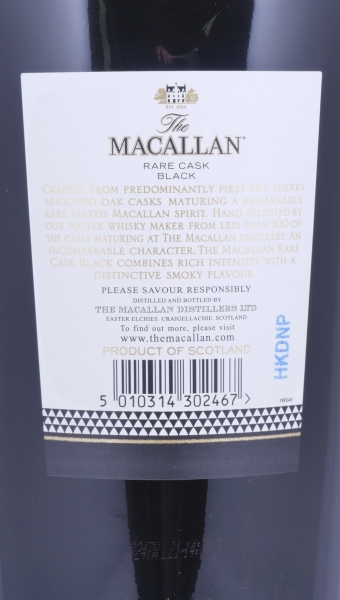Macallan Rare Cask Black Steven Klein Masters of Photography Highland Single Malt Scotch Whisky 48.0%