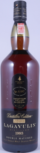 Lagavulin 1993 16 Years Distillers Edition 2009 Special Release lgv.4/497 Islay Single Malt Scotch Whisky 43.0%
