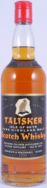 Talisker 1959 34 Years Black Label Golden Eagle Isle of Skye Single Malt Scotch Whisky with Red Screw Cap 40.0%