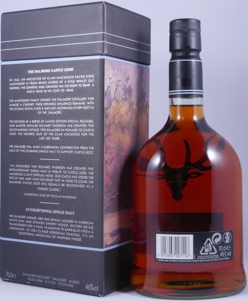 Dalmore Castle Leod Home of Clan Mackenzie 1995 16 Years Highland Single Malt Scotch Whisky 46,0%