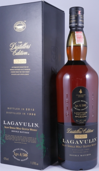 Lagavulin 1996 16 Years Distillers Edition 2012 Special Release lgv.4/500 Islay Single Malt Scotch Whisky 43,0%