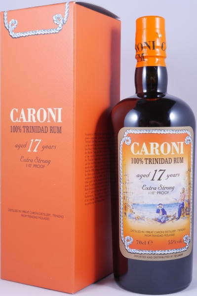 Caroni 1998 17 Years Extra Strong 110° Proof Heavy Trinidad Rum 55.0%