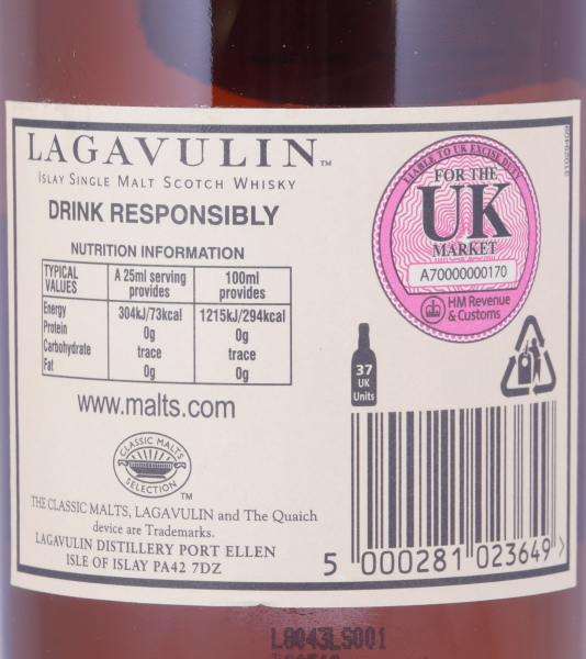 Lagavulin 1993 Feis Ile 2008 14 Years European Oak Cask 1403 Islay Single Malt Scotch Whisky Cask Strength 52.9%