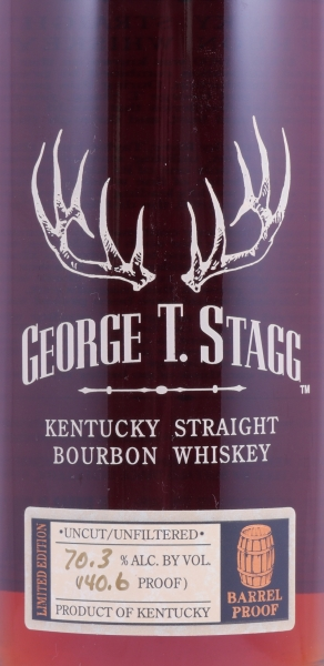 George T. Stagg 1990 Fall of 2006 Kentucky Straight Bourbon Whiskey 70.3% from the Buffalo Trace Antique Collection