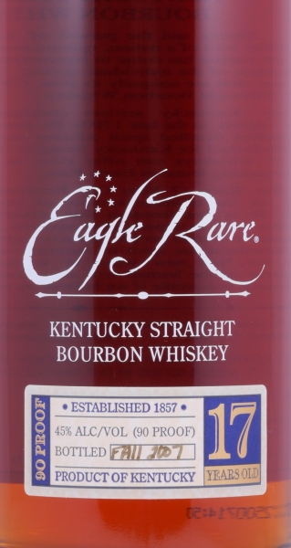 Eagle Rare 17 Years 1988 Fall of 2007 Kentucky Straight Bourbon Whiskey 45.0% from the Buffalo Trace Antique Collection