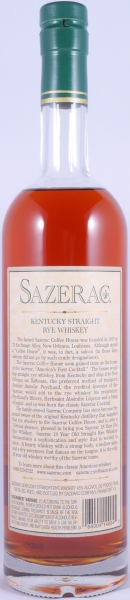 Sazerac 18 Years 1990 Fall of 2008 Kentucky Straight Rye Whiskey 45,0% aus der Buffalo Trace Antique Collection