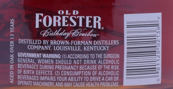 Old Forester Spring 1994 13 Years 2007 Birthday Edition 7th Release Kentucky Straight Bourbon Whiskey 47.0%
