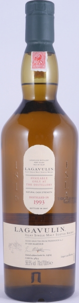 Lagavulin 1993 Feis Ile 2007 14 Years European Oak Cask 4893 Islay Single Malt Scotch Whisky Cask Strength 56.5%
