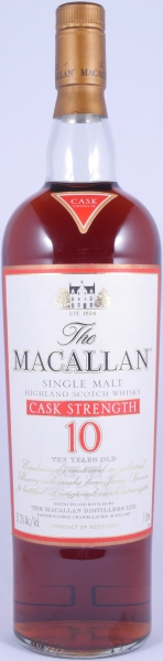 Macallan 10 Years Cask Strength Sherry Oak Highland Single Malt Scotch Whisky 57.3%