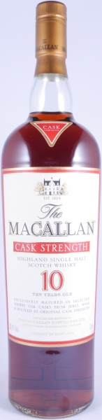 Macallan 10 Years Cask Strength Sherry Oak Highland Single Malt Scotch Whisky 58,4%