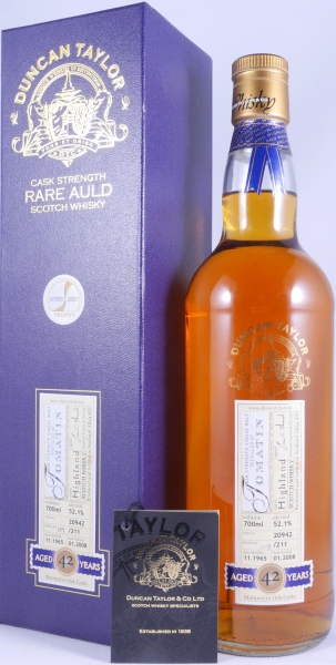 Tomatin 1965 42 Years Cask 20942 Highland Single Malt Scotch Whisky Duncan Taylor Cask Strength Rare Auld Edition 52,1%